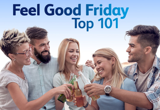 Sky Radio lanceert Feel Good Friday Top 101 op vrijdag de dertiende