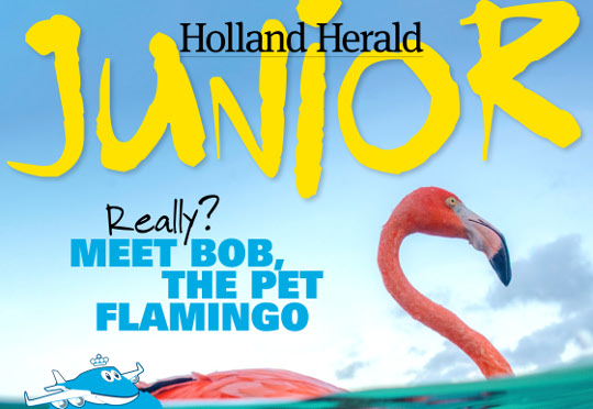 Hearst Create en Quest maken jubileummagazine Holland Herald Junior voor KLM